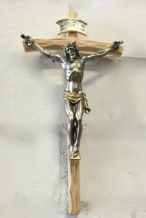 Christliche Kruzifix Kreuz Jesus Korpus Herrgott Christus Wandkreuz 45x25 Holz
