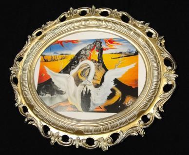 BILDERRAHMEN Groß Bild mit Rahmen SALVADOR DALI ANTIK BAROCK 58X68 Schwann Neu