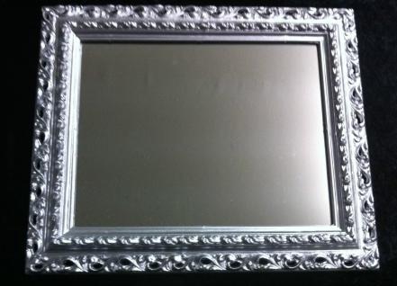 Wandspiegel 43x36 Spiegel BAROCK Rechteckig Antik 3059 SILBER Arabesco 1 - Vorschau 2