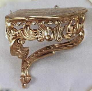 Wandkonsole antik Gold barok regal 28x35x 29 Wandspiegel Spiegelkonsole Cp75
