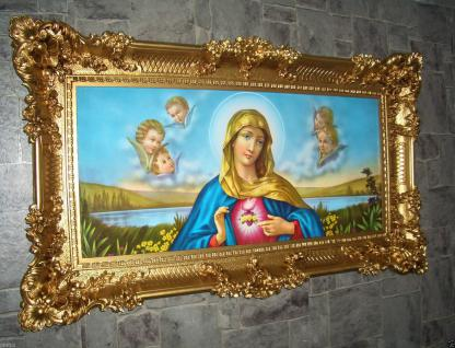 Heilige Bild MARIA Gerahmte Gemälde Rahmen 97 x 57 cm Ikonen JESUS CHRISTUS