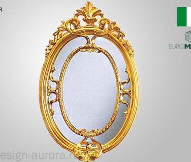 Wandspiegel barock Gold 50x31cm Massiv Flur Spiegel Antik Dekorative Spiegel