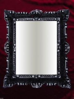 Bilderrahmen Antik schwarz Silber Repro 45x37 Foto/Spiegelrahmen Gemälderahmen