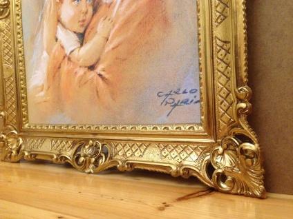 Mutter Baby Madonna Maria Gemälde 90x70 Bild Wandbild Bild mit Rahmen Barock - Vorschau 4