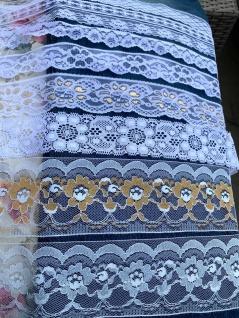 10 Meter Spitzenborte tüllspitze Weiß 34mm Tüllband Spitze Hochzeitsdeko Angebot - Vorschau 5