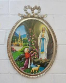 Heilige Religiöse Bilder Maria Lourdes 57x41 Madonna Jesus Christus Ikonen Bild