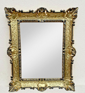 Wandspiegel Gold Schwarz Barock 56x46 Badspiegel Antik vintage Retro Rokoko Neu