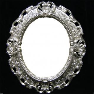 Wandspiegel Spiegel BAROCK Antik SILBER 45x38 Oval Badspiegel 103045