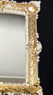 Wandspiegel Gold Weiß Antik Spiegel Barock 57x47 Bad Spiegel Rechteckig '49 - Vorschau 2