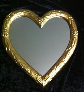 Wandspiegel Spiegel Herz form Gold 39x38 Kinderzimmer Bad Spiegel 3072 - Vorschau 2