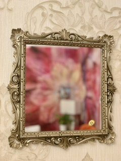 Wandspiegel barock Gold Silber Schwarz Weiß 38x36cm Spiegel Antik Shabby C533