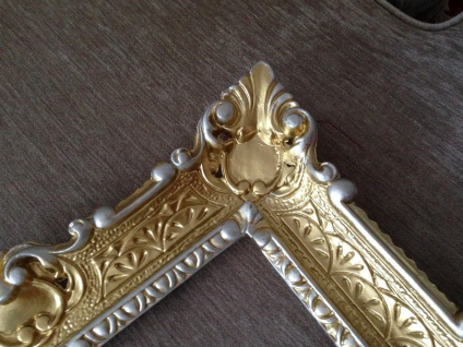 Bilderrahmen Gold Silber barock 56x46 Fotorahmen Antik Rahmen 30x40