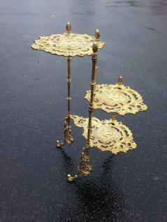 Blumenständer Messing Gold Beistelltisch Antik 72cm x 47cm Telefontisch Barock