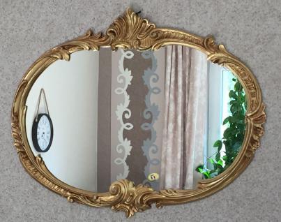 Wandspiegel Barock Oval Antik Gold 52x42 Badspiegel Vintage Retro Spiegel C17