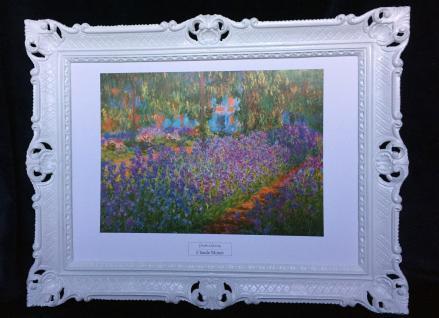 Claude Monet Bild Giverny Garten Landschafts Bild Blumen 90x70 gardin a Giverny