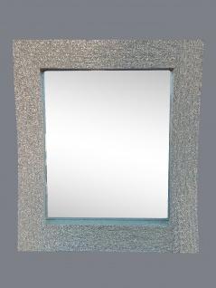 Wandspiegel Silber Glitzer Modern Flurspiegel Friseurspiegel 60x90 Mirror - Vorschau 3