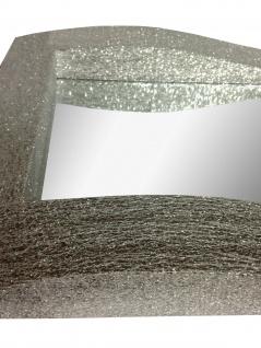 Wandspiegel Silber Glitzer Modern Flurspiegel Friseurspiegel 60x90 Mirror - Vorschau 5
