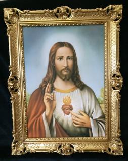 Jesus Christus Wandbild Christliche Heilige Jesus Bild Bilderrahmen Gold H1 - Vorschau 5