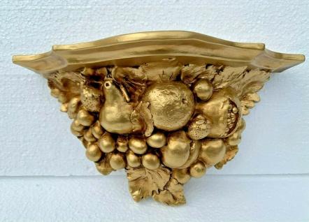 Wandkonsole Wandablage Barock Gold 28x15 ANTIK Wandregal Spiegelkonsole Deko