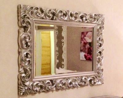 Wandspiegel Antik Silber 120 x 90 CM Barock Friseurspiegel Spiegel Ornamente