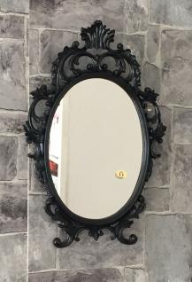 Wandspiegel Oval barock Gold Silber Schwarz Weiß 43x28cm Spiegel Antik Shabby - Vorschau 4