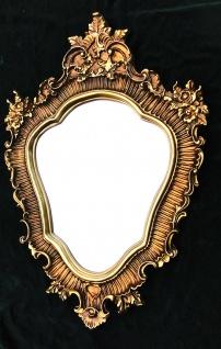 Großer Wandspiegel BAROCK OVAL 103x73cm Badspiegel Antik Spiegel GOLD