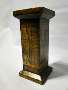 Kerzenhalter Holz Antik 24x11 Kerzenständer aus Mango Holz Ausstellungsstück 495 - Vorschau 5