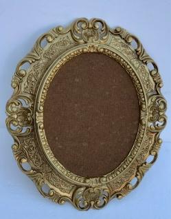 Bilderrahmen Oval Barock Gold 45x38 Fotorahmen 24x30 cm Bilderrahmen Prunkrahmen