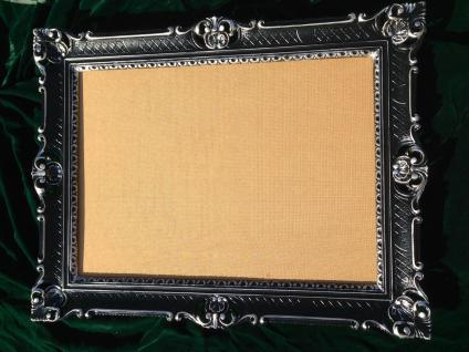Bilderrahmen70x90 Rahmen BAROCK Rechteckig Antik Schwarz-Silber Hochzeitsrahmen