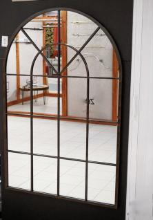 Großer modern Wandspiegel Metall 135x90 Standspiegel Spiegel Schwarz Flurspiegel