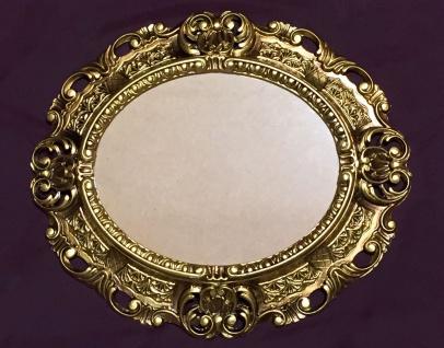 Bilderrahmen Antik Oval Gold Barock Fotorahmen mit Glas 45X37 Spiegelrahmen