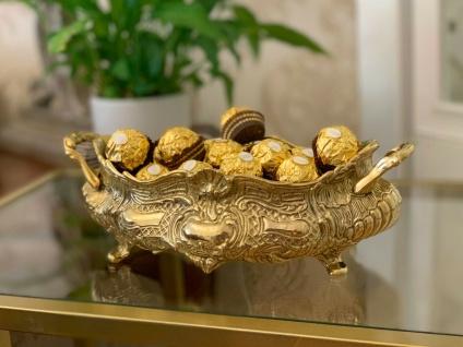 Messing schale Blumenschale mit Fuß Antik Jugendstill Schokolade / Zuckerschale