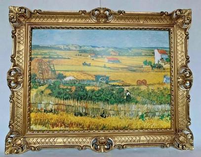 Gemälde Van Gogh Kunstdruck Die Ernte Wandbild 90x70 Erntenfeld Bild mit Rahmen
