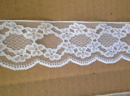 5 Meter Spitze Baumwolle Madeira Spitzenband Borte Stickerei weiß rot 20mm