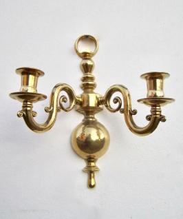 2 x Wandkerzenhalter, Kerzenleuchter KLAVIERLEUCHTER Messing 30cm Wanddeko
