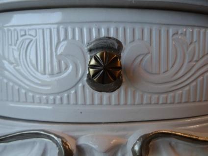 Wandkonsole Antik/Spiegelkonsolen mit SCHUBLADE/ BAROCK Weiß Silber B:50cm cp84 - Vorschau 4