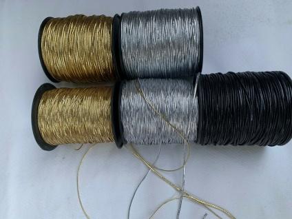 10 Meter Gummiband Silber / 1mm / Gummikordel / Hutgummi / Rundgummi Gummilitze - Vorschau 2