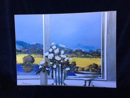 Blumen Bilder 70x50 Landschaftsbild in Vase Bild MDF Platte Rahmenlos Wandbild