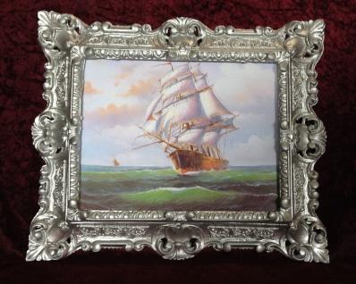 Gemälde Schiff Meer Maritime Schiffbild 45x38 Segelschiff Wandbild Höher See