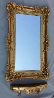 Wandspiegel Barock Gold mit Konsole Rechteckig Antik Badspiegel 96x57 REG3074G