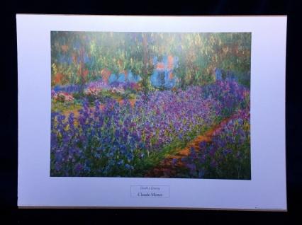 Claude Monet Garden Landschafts Bild Blumen Bilder 50x70cm Garden a Giverny