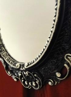 Wandspiegel OVAL ANTIK Schwarz Silber BadSpiegel Spiegel BAROCK45X37 Neu 10345 - Vorschau 3