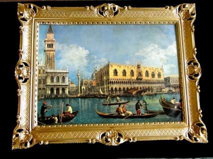 Bilderrahmen Gemälde 90x70 Antik BAROCK Rechteckig Bild Venedig