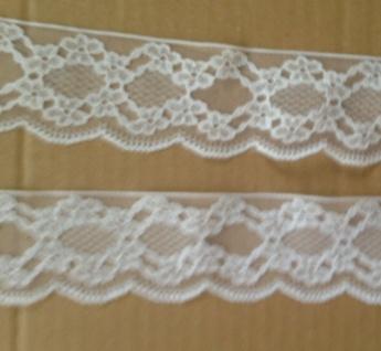 10 Meter Spitzenborte Weiß Spitzenband 5cm Häkel-SpitzeTüll-Spitze Angebot - Vorschau 4