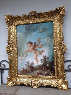 Gemälde Eros 56x46 cm Kunstdruck Bild Wandbild Heiligebilder Engel Baby