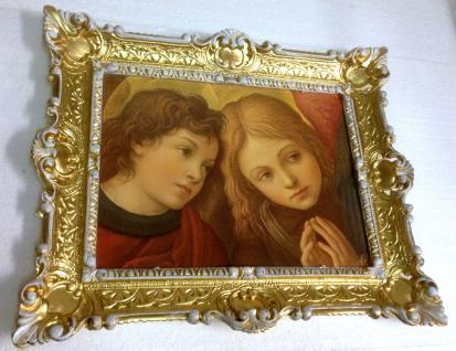 Bild mit Rahmen KIND Gemälde Gold-Weiß barock 56x46 Rahmen Rechteckig 30x40