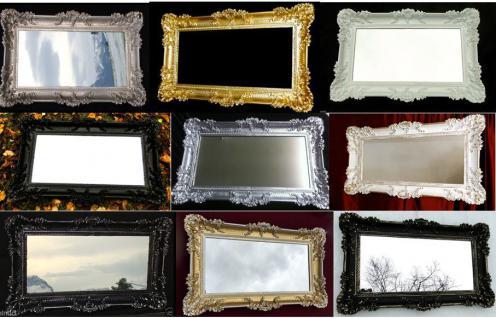 BAROCK Spiegel Wandspiegel Rechteckig Antik Badspiegel Antik 96x57 Gold wählbar-