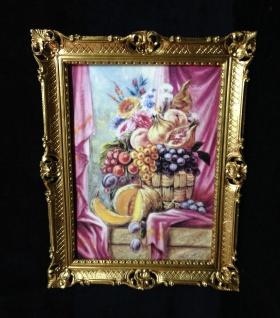 Bilder gedeckteTisch Gemälde Rahmen 90x70 Gerahmte Bilder Weintrauben frutta 1