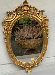 Barock Wandspiegel Gold Oval Spiegel Antik Rokoko Badspiegel 49x32 Shabby Prunk - Vorschau 3