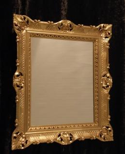 Wandspiegel Barock Gold Badspiegel Barspiegel 90x70 Rechteckig Antik Spiegel